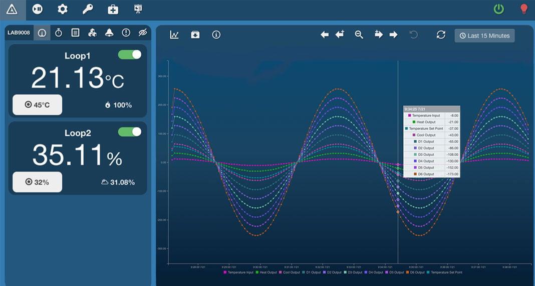 AES|XChange - Test Chamber Controller Dashboard Screenshot