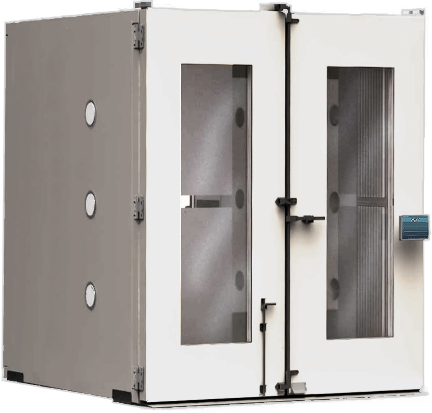 2 door solid steel walk-in chamber by associated environmental systems