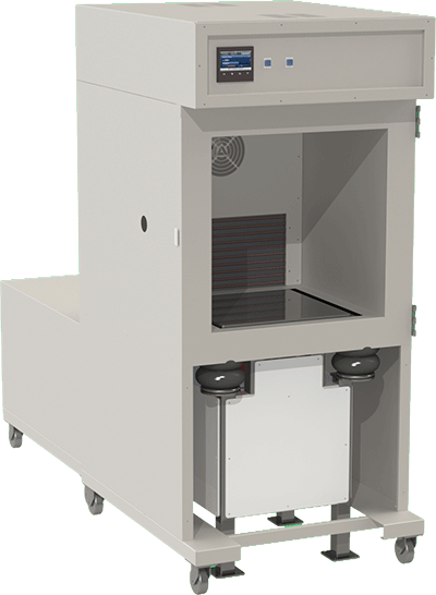 FD environmental test chamber with vibration table by associated environmental systems