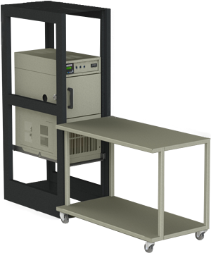 1 by 1 cubic foot space saver rack by associated environmental systems