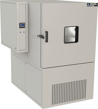 Floor-model, 32 cubic foot workspace, temperature test chamber by associated environmental systems