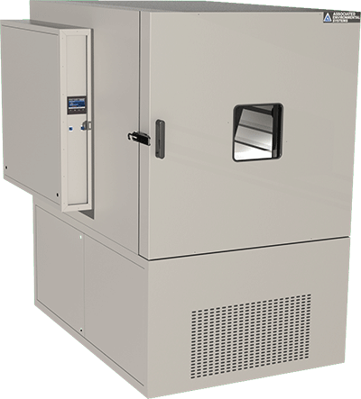 Floor-model, 45 cubic foot workspace, temperature test chamber by associated environmental systems