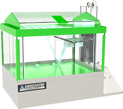 Associated Environmental Systems Salt Spray Test Chamber with 360 glass viewing