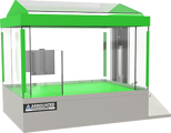 Salt Spray Chamber, 8 cubic feet, 360 degree viewing, by associated environmental systems