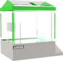 Salt Spray Chamber, 16 cubic feet, 360 degree viewing, by associated environmental systems