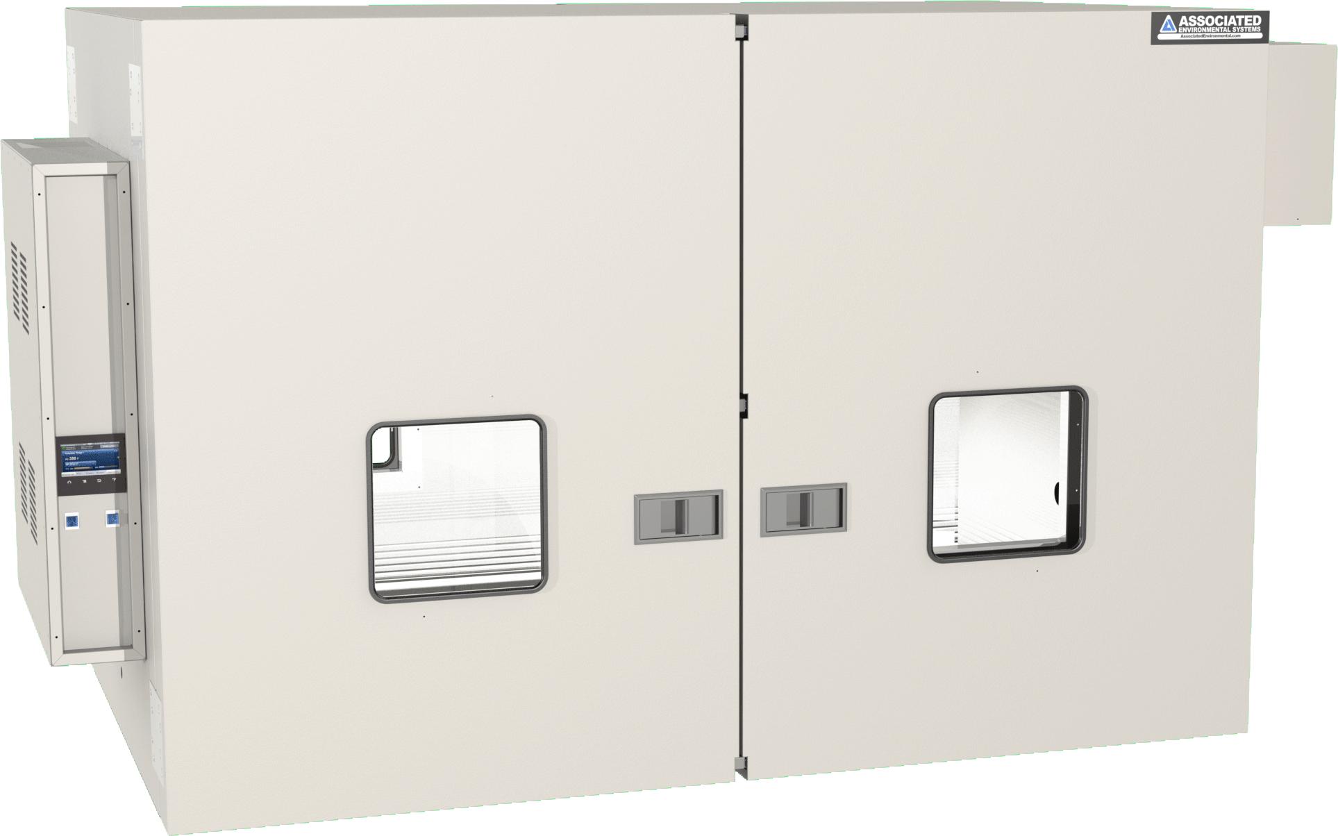 Lab oven with bi-parting doors