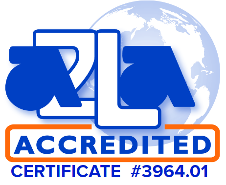 Associated Environmental Systems is ilac-a2la accredited certificate number 3964.01