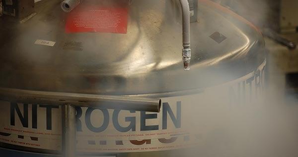 Silver Nitrogen tank