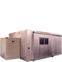 Walk-in test chamber with sliding door by associated environmental systems