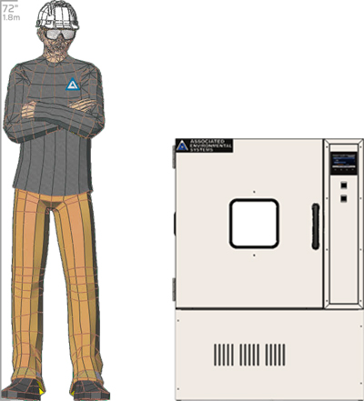 Illustration of man next to LH-6 for scale