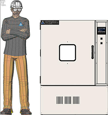 Illustration of man next to LH-10 for scale