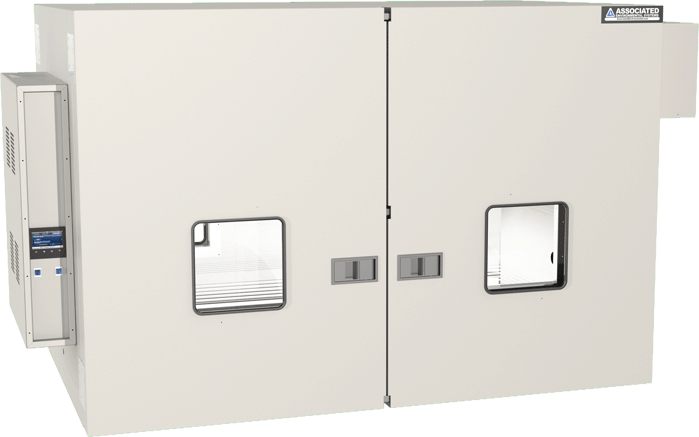 Lab oven, bi-parting doors, custom, by associated environmental systems