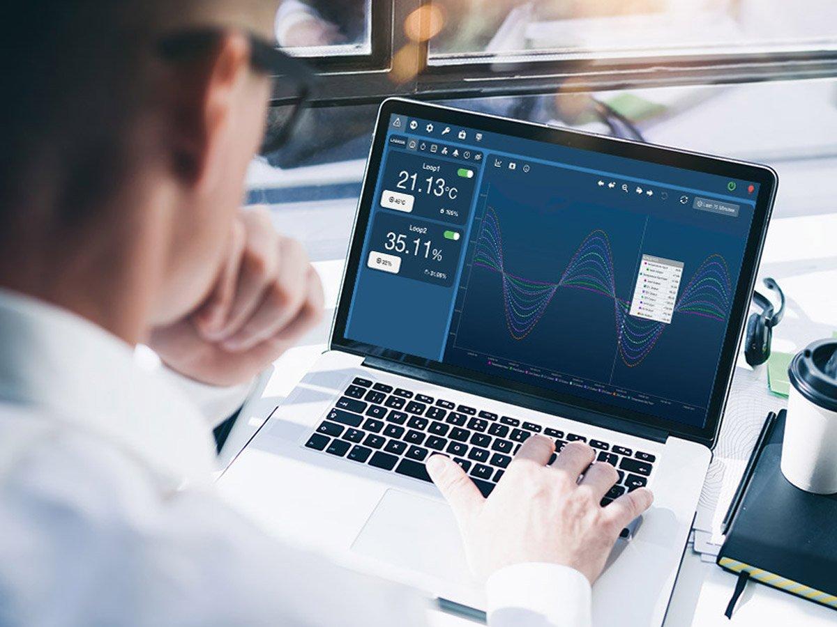 engineer on laptop