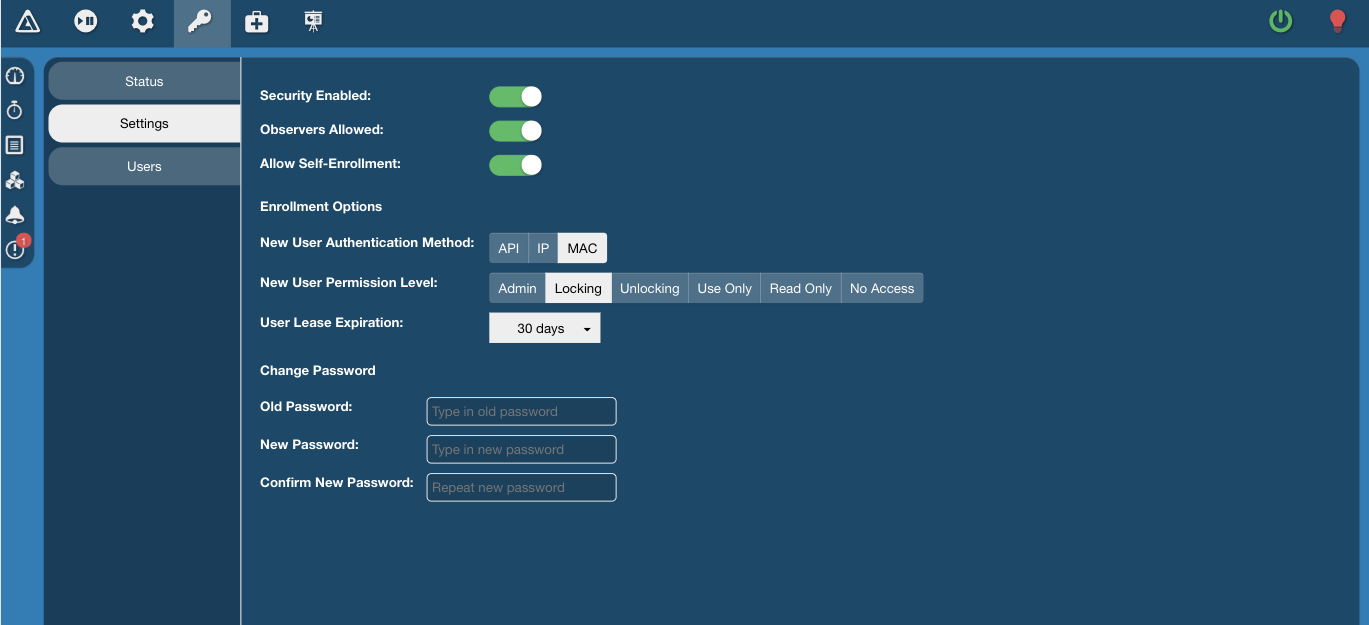 Running a profile in the XChange Dashboard.