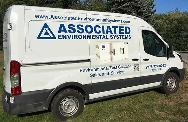 AES service van on grass by associated environmental systems