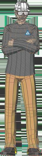 Illustration of a 6-foot tall man