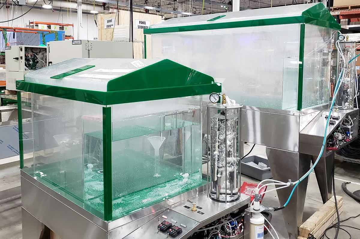 The MX series is AES' salt spray test chamber, and it is the only salt spray test chamber on the market with a 360-degree view into the chamber.
