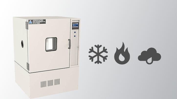 LH-6 Chamber next to a snowflake icon, fire icon, and humidity icon